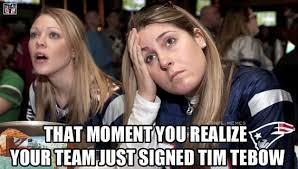 Tebowing Meme - photos tim tebow signed by patriots meme nation in shock westword