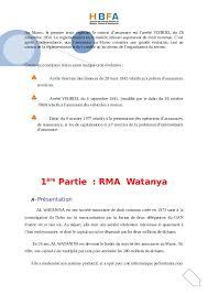 bureau commun des assurances collectives rapport effetue dans la societe rma watanya stage de 1 ére annee a