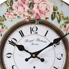 royal botanic garden wall clock 35cm bedroom furniture direct