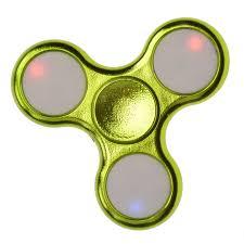 3 leaves hand spinner fidget spinner with led flickering bulbs in