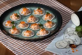 cuisiner les radis noirs bouchées de radis noir aux rillettes de saumon