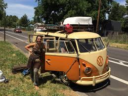 volkswagen hippie van curbside classic 1960 vw bus u2013 on the road and on the bus three