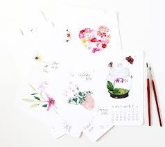 botanical calendars introducing my 2016 watercolor print calendar a garden year