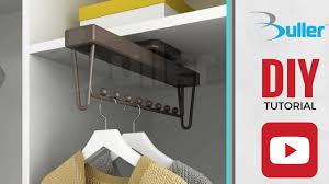 how to install moka pull out wardrobe clothes rail from buller