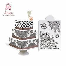 line Shop Newest Classical Flower Cake Stencils Fondant Cake