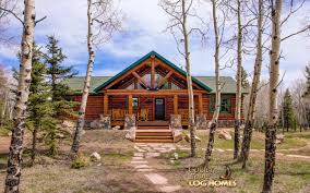 ranch log home floor plans ski home prow 1418a ranch exterior front entry view 2