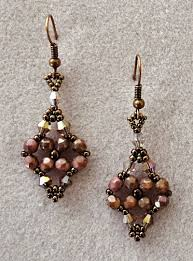 around the beading table linda s crafty inspirations printemps earrings pink coral moon dust