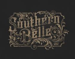 southernbelle detail typography calligraphy and lettering