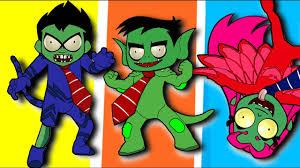 pj masks zombie teen titans go coloring pages for kids pj