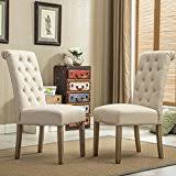 Dining Room Sets With Fabric Chairs by Amazon Com Upholstered Chairs Kitchen U0026 Dining Room Furniture