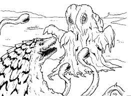 godzilla facing sea monster coloring pages godzilla facing sea