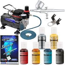 master airbrush 6 color cake kit withtc 20 compressor g23 set