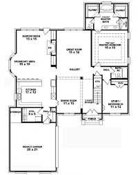 Narrow House Plans With Garage Fascinating 12 Narrow House Plans With Courtyard Garage 4 Bedroom