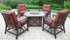 fire pit with seating oakland living haywood 5 piece fire pit seating group with