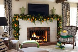 christmas decorating ideas living room elegant white fireplace