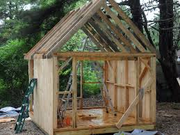 Free Plans For Building A Wood Shed by Common Rafter Framing Thisiscarpentry