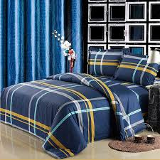 Plaid Bed Sets Navy Blue And Yellow Boys Cheap Tartan Plaid Print Traditional
