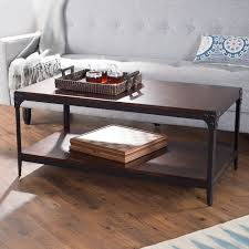 belham living trenton industrial coffee table espresso walmart com