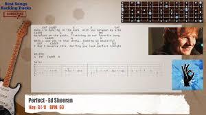 ed sheeran perfect chord original perfect ed sheeran guitar backing track with chords and lyrics
