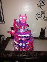 owl diaper cake three tier diaper cake custom towel cake ebay