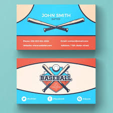 baseball business card psd file free download