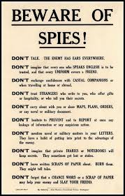beware of spies government security notice wwi print 8 x 10 prints