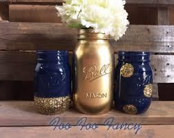 navy blue mason jar etsy