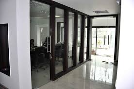 interior decoration for office the corridor contains office cabins and meeting spaces on either