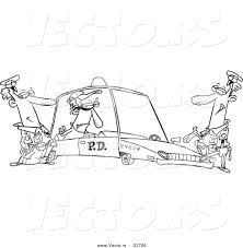 cartoon cars coloring pages vector of a cartoon cops with a robber in a squad car coloring