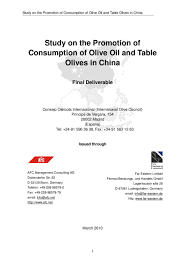 d馗laration changement bureau association study on the promotion ofconsumption of olive and tableolives in