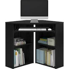 Walmart Corner Desk Mainstays Corner Desk With Keyboard Tray And Shelves Black