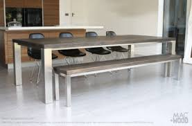 steel and wood table bespoke contemporary furniture large furniture wood zinc
