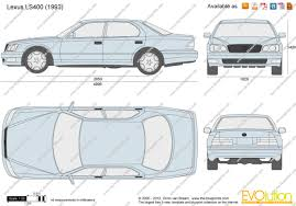lexus ls400 the blueprints com vector drawing lexus ls400