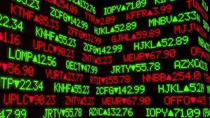 stock ticker a fictional stock market ticker wall stock footage 4064800