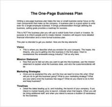 free business plan template pdf one page business plan exle pdf template free