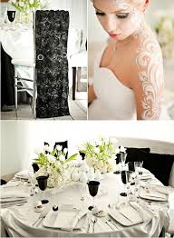 decoration mariage noir et blanc decoration de mariage blanche et baroque mariageoriginal
