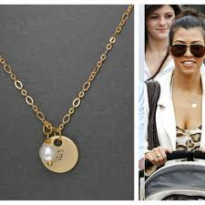 Monogram Disc Necklace Gold Disk Monogram Necklace Necklaces U0026 Pendants