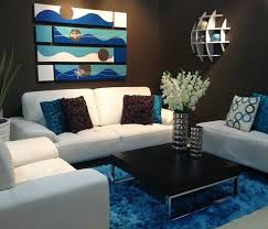 Brown And Blue Living Room Home Interior Design Ideas - Brown living room decor