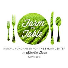 from farm to table 6th annual farm to table dinner the sylvia center