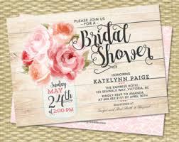 bridal invitations digital printable and printed invitations by sunshineprintables