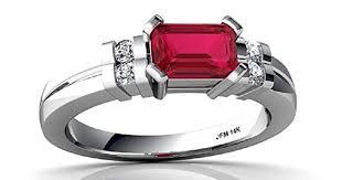 ruby and diamond emerald cut art deco ring u2013 eyes desire gems and