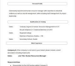 Resume Sample For Hr Manager by Pleasing Sample Hr Resume Pretty Resume Cv Cover Letter
