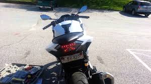 ninja 300 integrated tail light integrated smoked tail light ninja 300 youtube