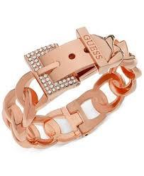 guess bracelet rose gold images Guess rose gold tone crystal buckle hinge bangle bracelet tif