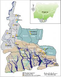 Nigeria State Map by Map Of Rivers State Showing Its Coastal Location Figure 2 Of 3