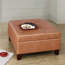 dorel home hadfield faux leather square storage ottoman walmart com