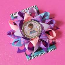 loopy bow doc mcstuffin bow doc mcstuffins inspired stacked layered hair