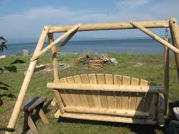 log porch swing plans