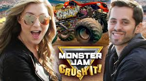 monster truck jam los angeles monster jam with sohinki youtube
