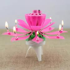 sparkler candles 2017 wholesale 1x pink magical flower musical birthday candle